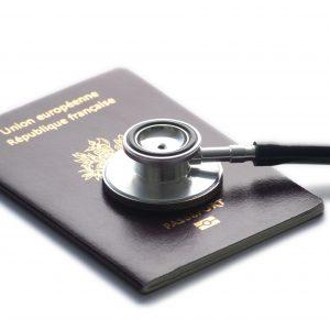 stethoscop-on-passport-isolated-on-whitebackground-19069584